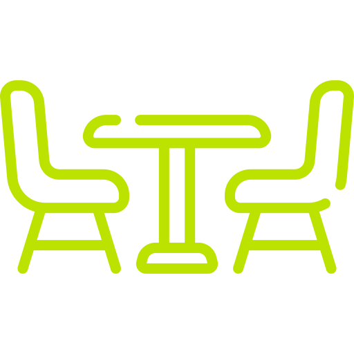 Commercial chairs and tables